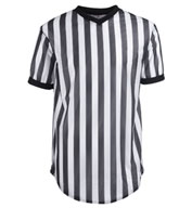 Cotton/Polyester Black and White Basketball Officials Shirts