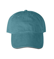 Solid Pigment-Dyed Twill Sandwich Cap