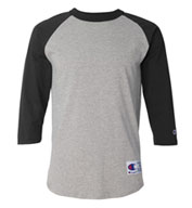Champion Shirt Team 100% Cotton Raglan Sleeve Mens