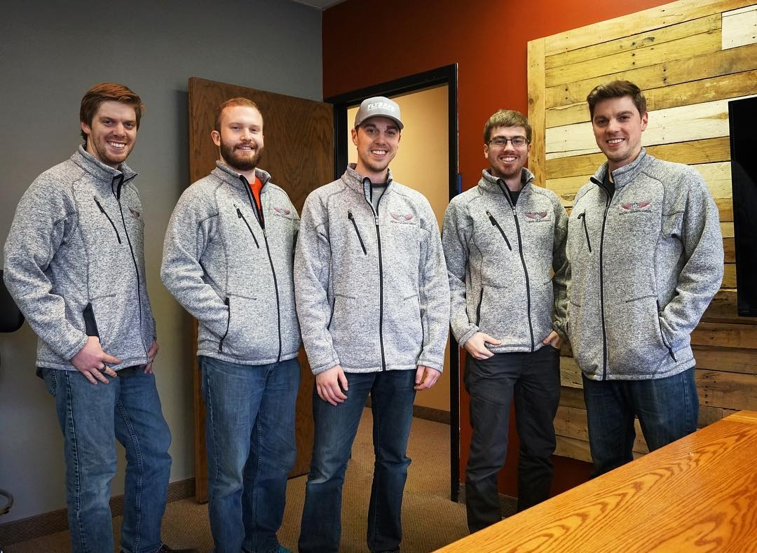 Flight Creative Media in their new custom jackets from LogoSportswear