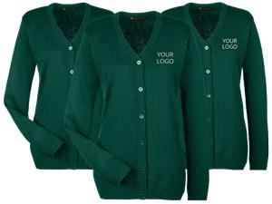 Custom Logo Bella + Canvas Unisex V-Neck Lightweight Sweater - 3985