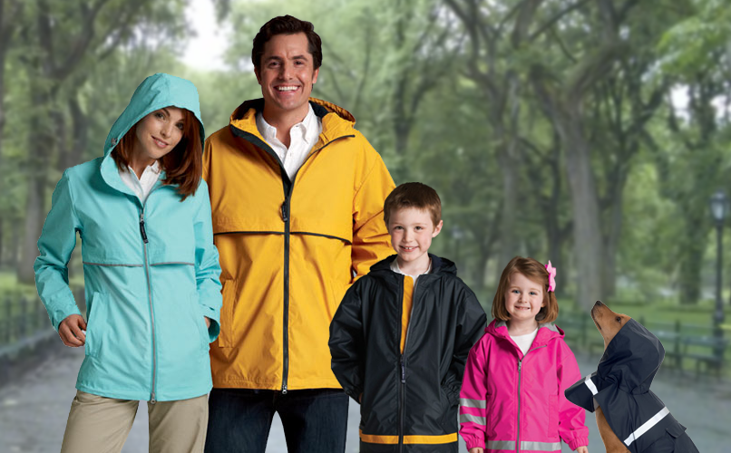 New Englander Rain Jackets by Charles River Apparel