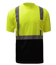 High Visibility Reflective Safety Shirts Customize Logo With Reflective Strips Hi Vis Long Sleeve Protective Workwear Large, Black - Style 5