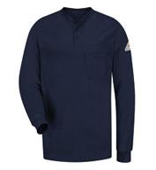 Bulwark® Mens CAT 2 Long Sleeve Henley Shirt