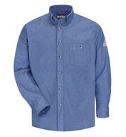 Bulwark® Mens Button Front Denim Dress Uniform Shirt-CAT2