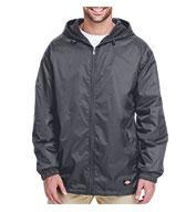 Dickies Adult Fleece-Lined Hooded Ripstop Jacket