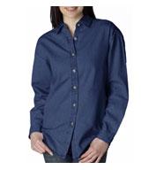 UltraClub Ladies Cypress Denim Shirt