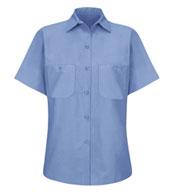 Red Kap Womens Half Sleeve Industrial Work Shirt