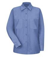Red Kap Womens Long Sleeve Industrial Work Shirt