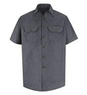 Red Kap Adult Heathered Poplin Short Sleeve Work Shirt