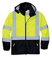 CornerStone® Mens ANSI 107 Class 3 Safety Windbreaker