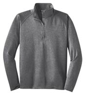Sport-Tek® Mens Sport-Wick® Stretch 1/2-Zip Pullover