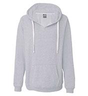 J. America Ladies Sydney Brushed V-Neck Hooded Sweatshirt