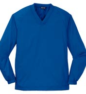 Sport-Tek Mens V-Neck Raglan Wind Shirt