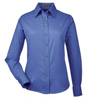 Harriton Ladies Easy Blend™ Long-Sleeve with Stain-Release