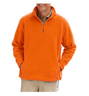 Blue Generation Adult Micro Fleece Quarter Zip Pullover