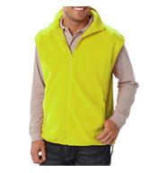 Blue Generation Adult Micro Fleece Zip Vest