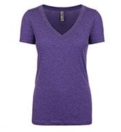 Next Level Ladies Tri-Blend Deep V-Neck T-Shirt