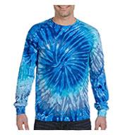 Tie-Dye Adult 100% Cotton Long-Sleeve T-shirt