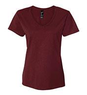 Hanes Ladies 100%  Ringspun Cotton Nano V-Neck T-Shirt