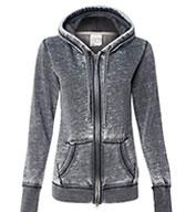 J. America Ladies Zen Fleece Hooded Sweatshirt
