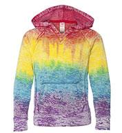 Weatherproof® Ladies Courtney Burnout V-Notch Hooded Sweatshirt