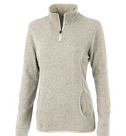 Charles River Womens Soft Heathered Fleece Pullover