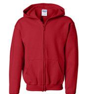 Gildan Youth Heavy Blend™ Full Zip Hooded Sweatshirt