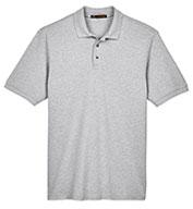 Harriton Men's Ringspun Cotton Pique Short-Sleeve Polo