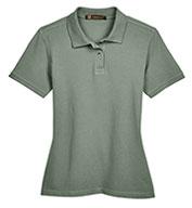 Harriton Ladies' Ringspun Cotton Pique Short-Sleeve Polo