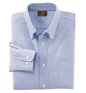 Harriton Men's Long Sleeve Oxford with Stain-Release