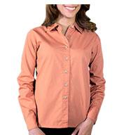 Blue Generation Ladies Long Sleeve Superblend Poplin Shirt