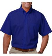 Blue Generation Mens Short Sleeve Value Poplin Shirt