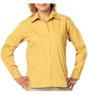 Blue Generation Ladies Long Sleeve Value Poplin Shirt