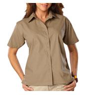 Blue Generation Ladies Short Sleeve Value Poplin Shirt