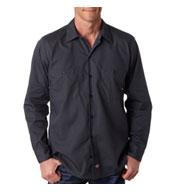 Dickies Men's Long-Sleeve Industrial Poplin Work Shirts