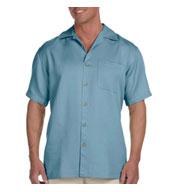 Harriton Mens Bahama Cord Camp Shirt