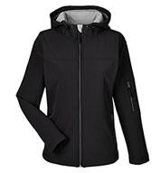 Devon & Jones Ladies Soft Shell Hooded Jacket