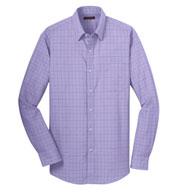 Red House® Mens Windowpane Plaid Dress Shirt