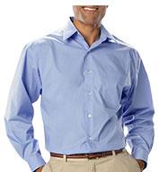 Blue Generation Mens Long Sleeve Stretch Poplin Shirt