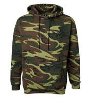 Code V Adult Camouflage Hooded Sweatshirt