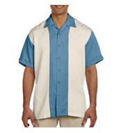 Harriton Mens Two-Tone Bahama Cord Camp Shirt