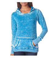 J. America Ladies Vintage Zen Hooded Fleece