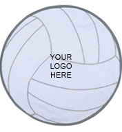 Pro Towels Volleyball Shaped Towel