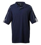 Adidas  Mens 3-Stripe Cuff Sport Shirt