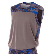 A4 Adult Camo Performance Muscle Top