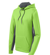 Sport-Tek® Ladies Sport-Wick® Fleece Colorblock Hooded Pullover