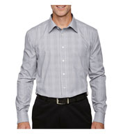 Devon & Jones Mens Glen Plaid Dress Shirt