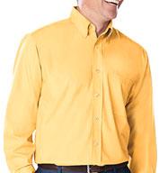 Blue Generation Mens Long Sleeve Fine Line Twill Shirt