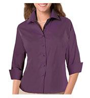 Blue Generation Ladies 3/4 Sleeve Fine Line Twill Shirt